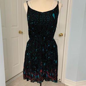 Splattered Strappy Back Dress